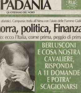 La Padania antiberlusconiana